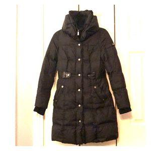 DKNY, XS Black puffer coat.